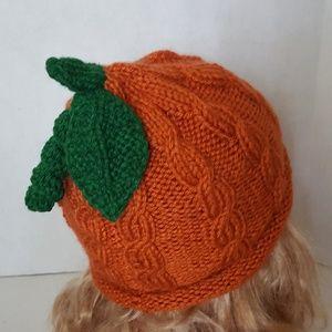Knit Toddler Boy/Girl Pumpkin Hat Halloween costum